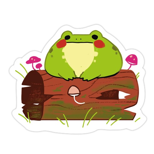 Frog On A Log, What Sins Will He Commit Textless Die Cut Sticker