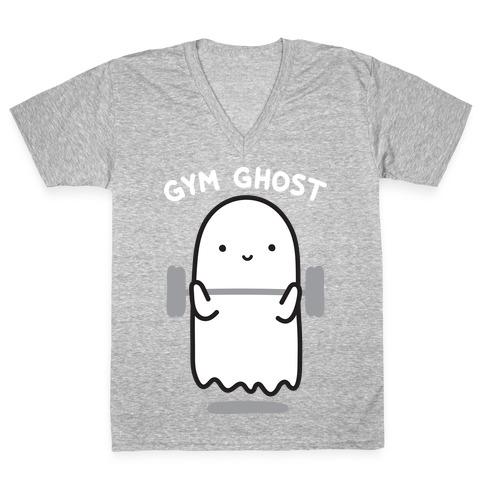 Gym Ghost V-Neck Tee Shirt
