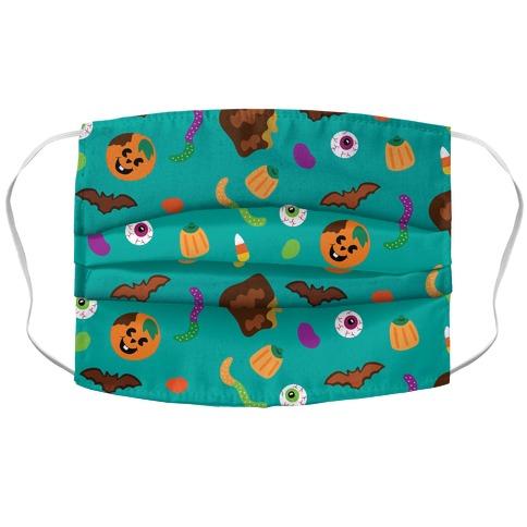 Halloween Treats Pattern Accordion Face Mask