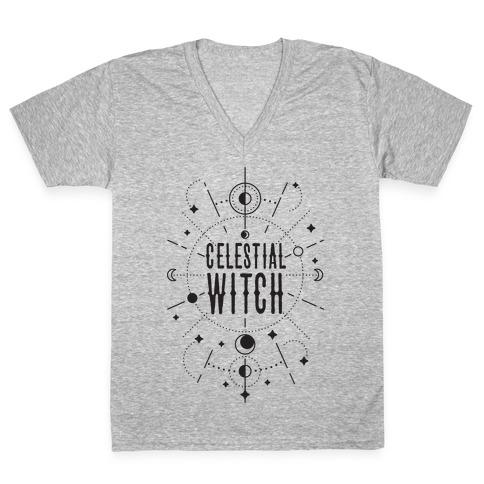 Celestial Witch V-Neck Tee Shirt