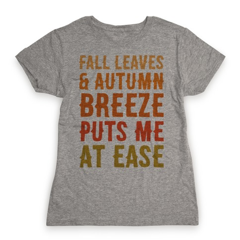 Fall Leaves & Autumn Breeze Womens T-Shirt