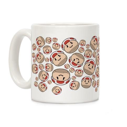 Stuffed Shrooms Pattern Coffee Mug