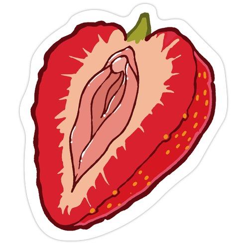 Fruity Vaginas Strawberry Die Cut Sticker