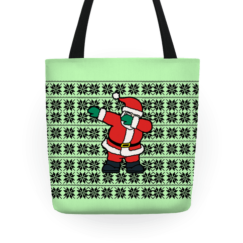 Dabbing Around the Christmas Tree Tote