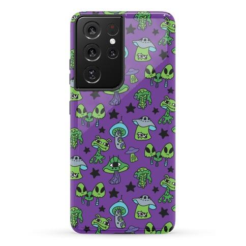 Alien Mushroom Pattern Phone Case