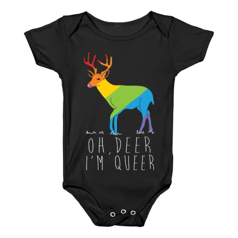Oh Deer I'm Queer Baby Onesy