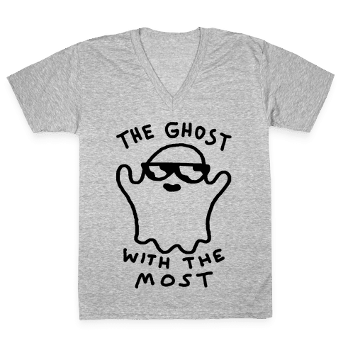 The Ghost With The Most V-Neck Tee Shirt