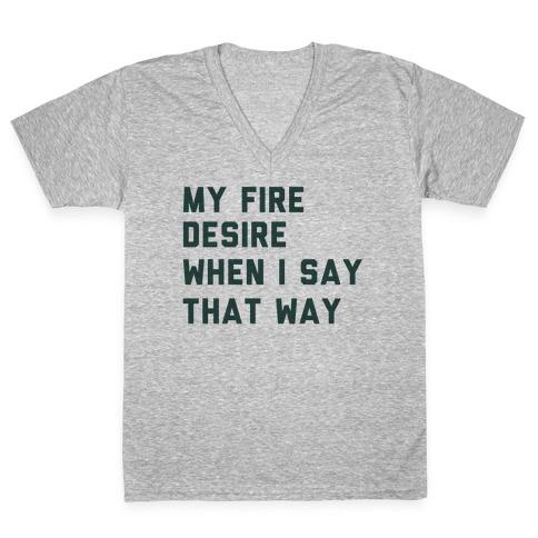 I Want It That Way Lyrics (1 of 2 pair) V-Neck Tee Shirt