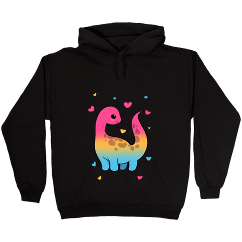 Pansexual-Dino Hooded Sweatshirt