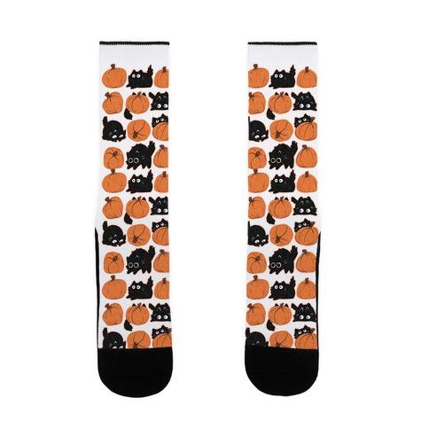 Pumpkin Cats Sock