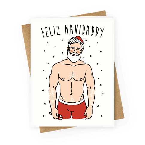 Feliz Navidaddy Parody Greeting Card