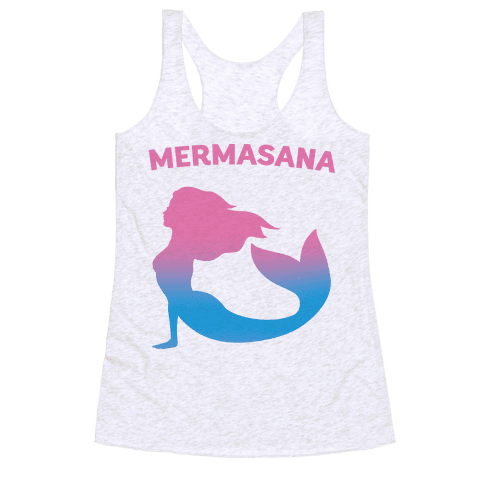 Mermasana Parody Racerback Tank Top