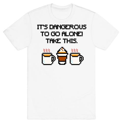 It's Dangerous To Go Alone Take This Pumpkin Parody T-Shirt