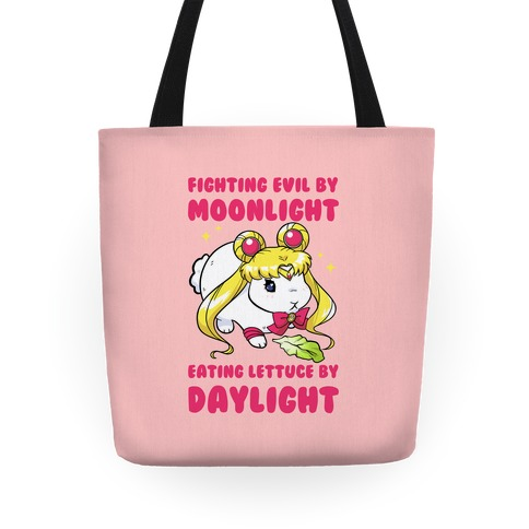 Fighting Evil By Moonlight Eating Lettuce By Daylight Tote