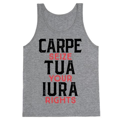 Carpe Tua Iura (Seize Your Rights) Tank Top