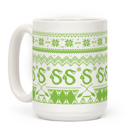 Hogwarts Ugly Christmas Sweater: Slytherin Coffee Mug