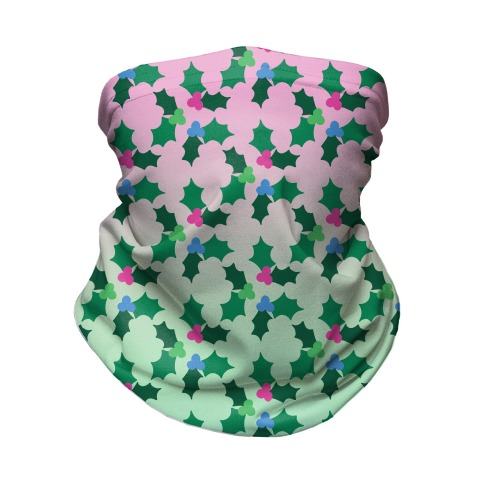 Holly Poly Pattern Neck Gaiter
