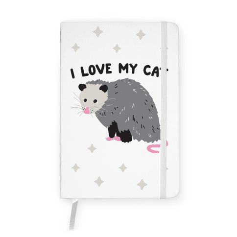 I Love My Cat Opossum Notebook