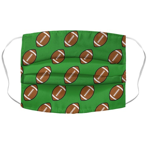 Football Pattern Accordion Face Mask
