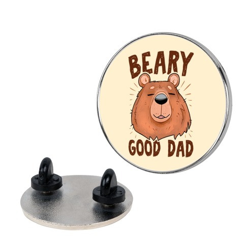 Beary Good Dad Pin