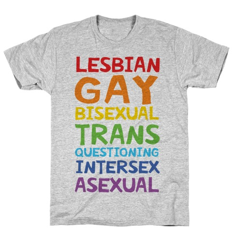 LGBTQIA List T-Shirt