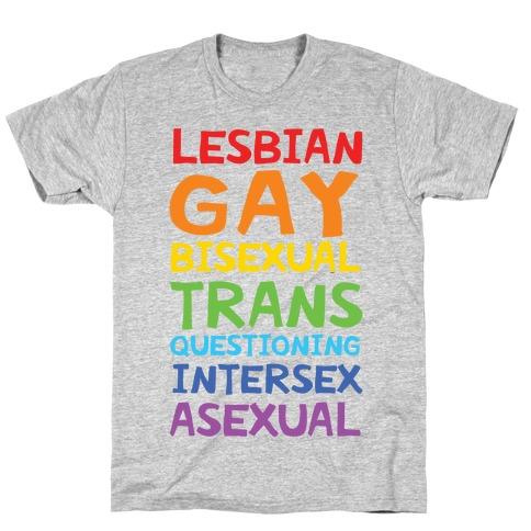LGBTQIA List T-Shirt