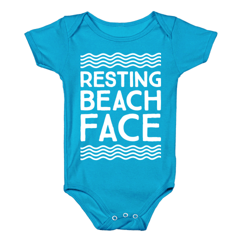 Resting Beach Face Baby Onesy