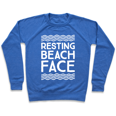 Resting Beach Face Pullover
