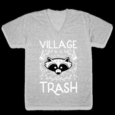 Village Trash V-Neck Tee Shirt