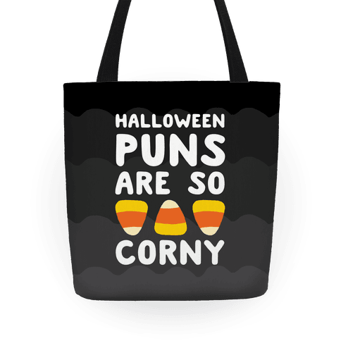Halloween Puns Are So Corny Tote