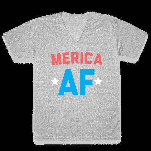 Merica AF V-Neck Tee Shirt