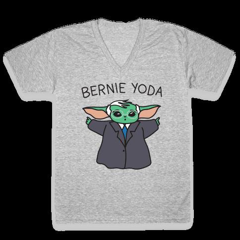 Bernie Yoda V-Neck Tee Shirt