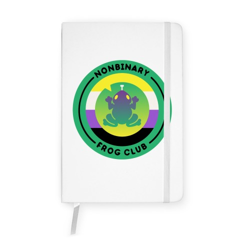 Non Binary Frog Club Patch Notebook