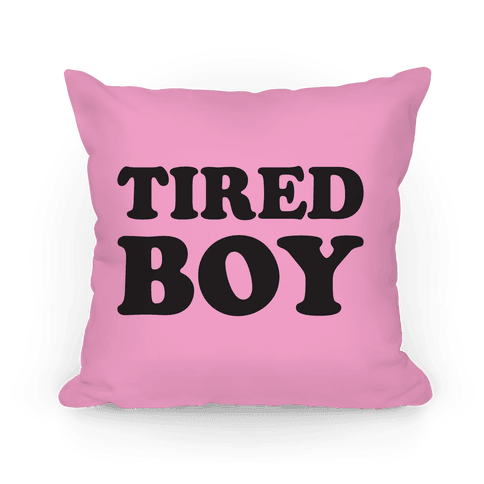 Tired Boy Pillow
