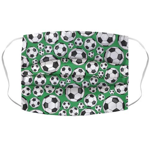Soccer Balls Pattern Accordion Face Mask