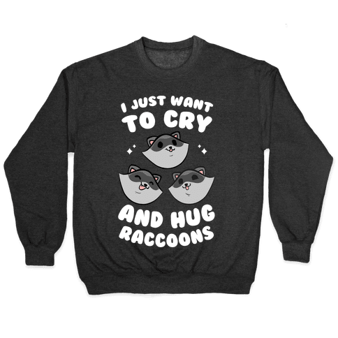 I Just Want To Cry And Hug Raccoons Pullover