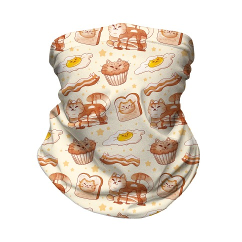 Breakfast Cats Neck Gaiter
