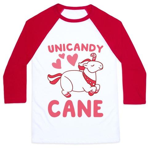Uni-Candy Cane  Baseball Tee