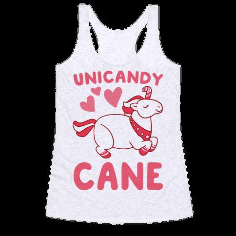 Uni-Candy Cane  Racerback Tank Top