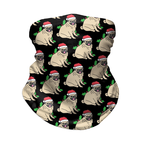 Christmas Pug Pattern Neck Gaiter