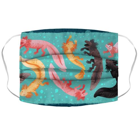 Cute Bright Axolotls Face Mask Cover