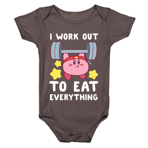 I Work Out to Eat Everything (Kirby) Baby One-Piece