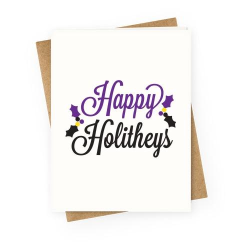 Happy Holitheys! Non-binary Holiday Greeting Card