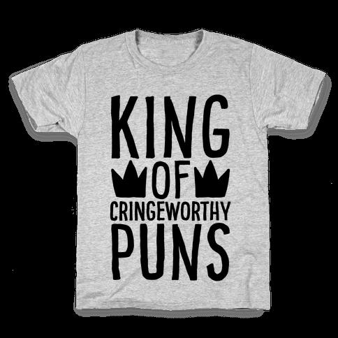 King of Cringeworthy Jokes  Kids T-Shirt
