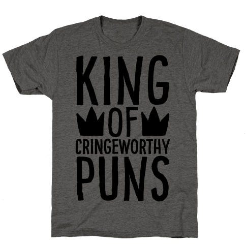 King of Cringeworthy Jokes  Mens T-Shirt