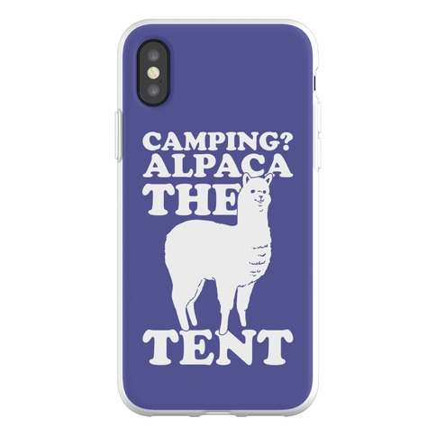 Camping? Alpaca The Tent Phone Flexi-Case