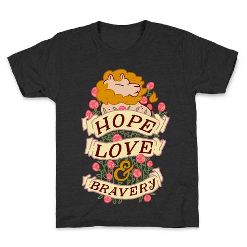 Hope Love & Bravery Kids T-Shirt