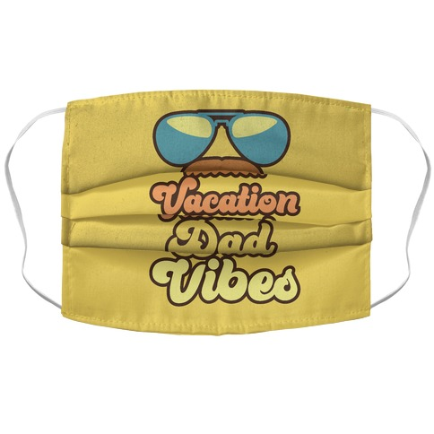 Vacation Dad Vibes Accordion Face Mask