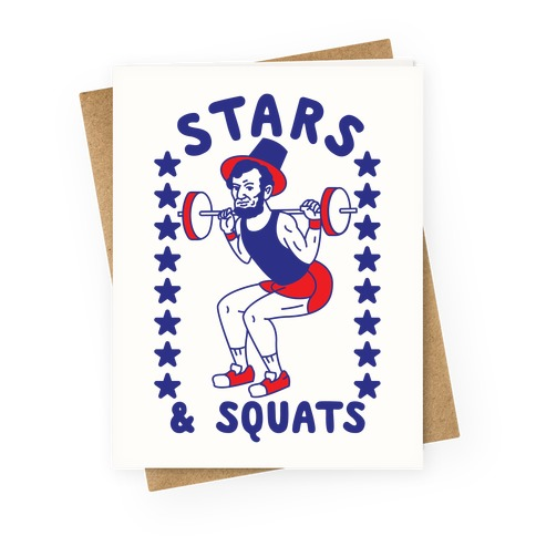 Stars and Squats  Greeting Card