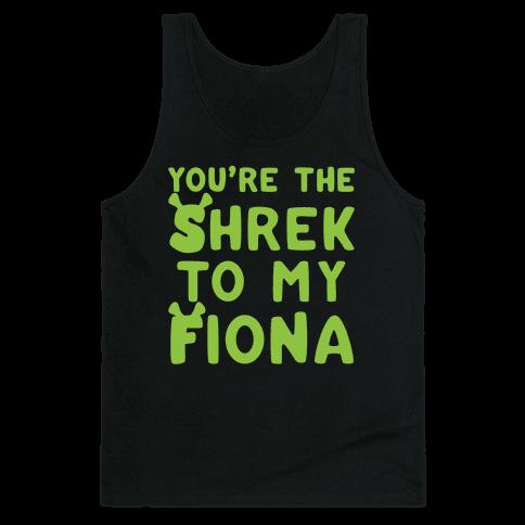 You're The Shrek To My Fiona Parody White Print Tank Top